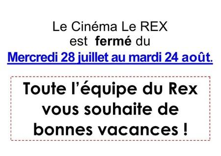 Fermeture du Rex