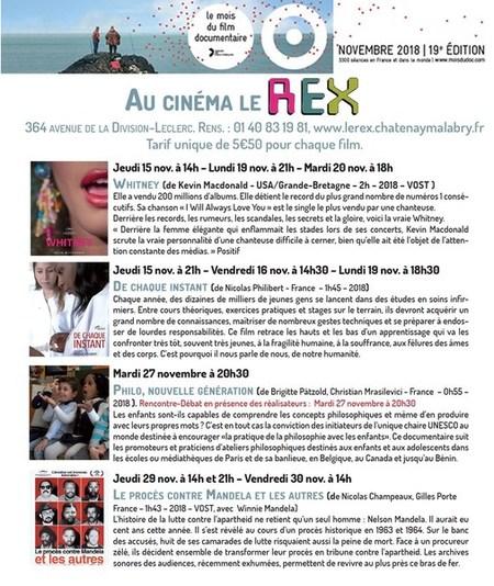 En Novembre, le Rex participe au Mois du film documentaire