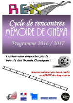 Programme Mémoire de Cinéma 2016/2017